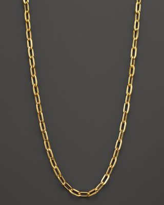 18K YELLOW GOLD OVAL NECKLACE, 23