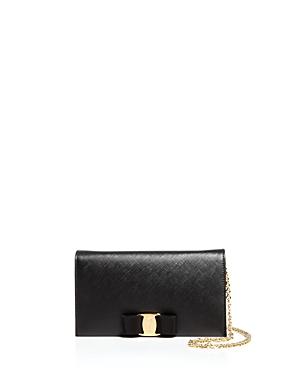 Salvatore Ferragamo Miss Vara Bow Soft Leather Chain Wallet