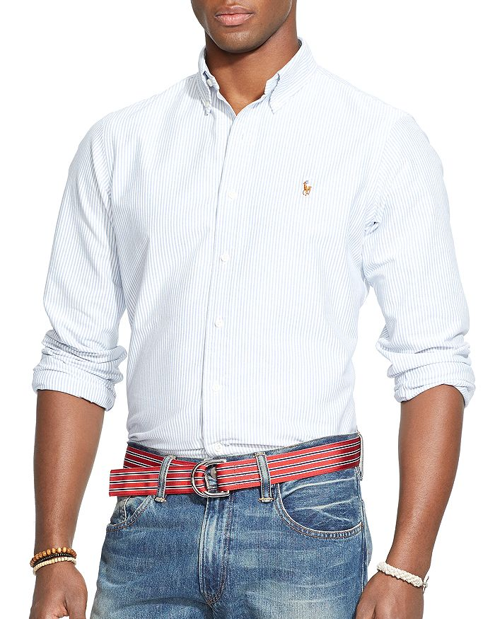 ad60d899 Polo Ralph Lauren Multi-Striped Oxford Shirt - Classic Fit ...
