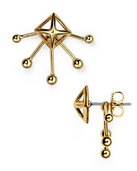 Rebecca Minkoff - Pyramid Fan Stud and Jacket Earrings