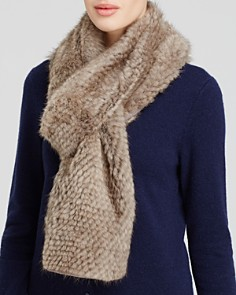 Maximilian Knitted Mink Scarf - Bloomingdale's_0