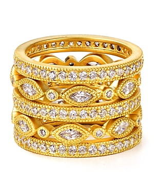 Freida Rothman Marquise Eternity Rings, Set of 5