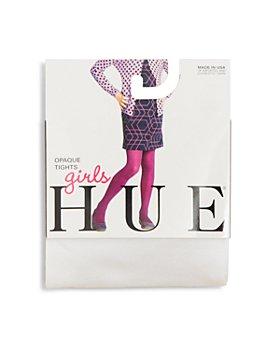 HUE - Girls' Opaque Tights - Little Kid, Big Kid