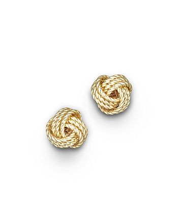 Bloomingdale's - 14K Yellow Gold Twisted Love Knot Earrings - 100% Exclusive