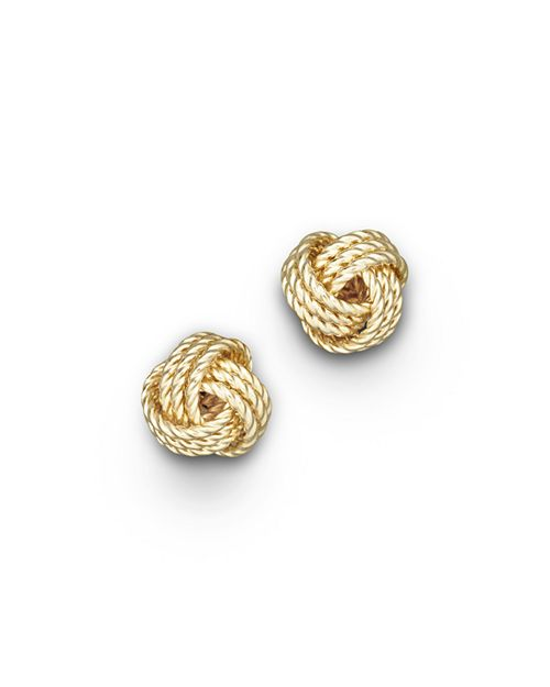 Bloomingdale S 14k Yellow Gold Twisted Love Knot Earrings 100 Exclusive