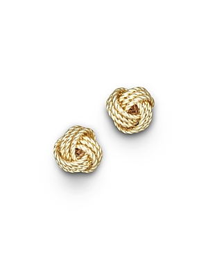 14K Yellow Gold Twisted Love Knot Earrings - 100% Exclusive