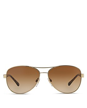 Burberry - Men's Honey Check Aviator Sunglasses, 59mm