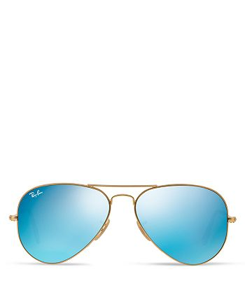 Ray-Ban - Unisex Mirrored Aviator Sunglasses, 58mm