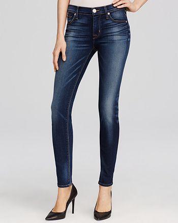 42b2ffa5bf6 Hudson Nico Mid Rise Super Skinny Jeans in Blue Gold | Bloomingdale's