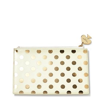 kate spade new york - Pencil Pouch, Gold Dots