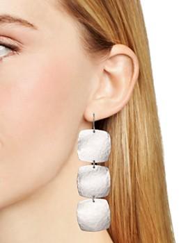 Bloomingdale's - Sterling Silver Hammered Cushion Drop Earrings - 100% Exclusive