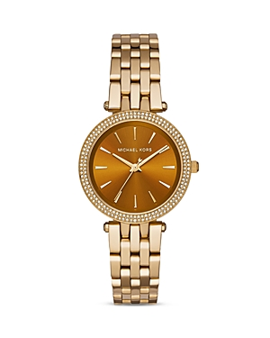 michael kors female michael kors darci pave encrusted watch 33mm