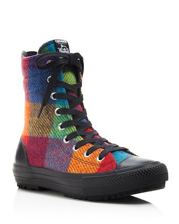 Converse - Woolrich Plaid High Top Sneakers