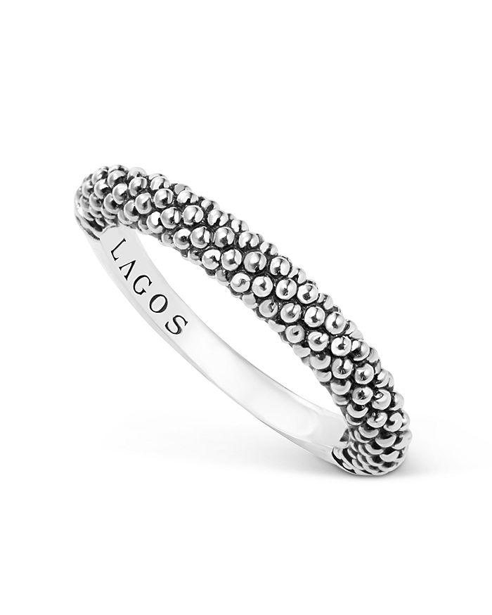 LAGOS - LAGOS Sterling Silver Caviar Beaded Stacking Ring