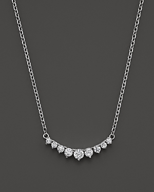 Click here for Diamond 9 Stone Necklace in 14K White Gold  1.0 ct... prices