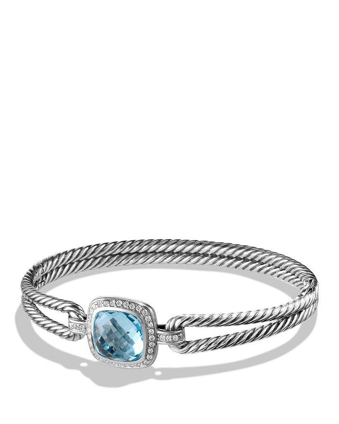 David Yurman - Albion Bracelet with Diamonds and Blue Topaz