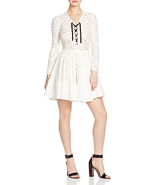 Maje Robby Lace Fit and Flare Dress