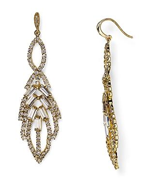 Abs by Allen Schwartz Leaf Chandelier Earrings