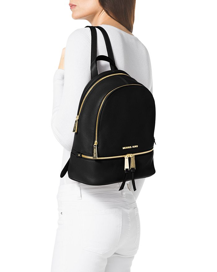1f2c637c9c9f0e MICHAEL Michael Kors Rhea Zip Small Leather Backpack | Bloomingdale's