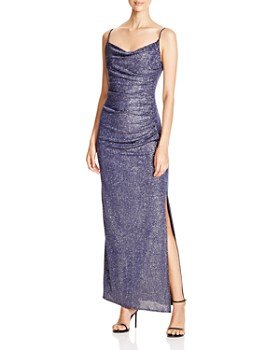 Laundry by Shelli Segal - Metallic Ruched Gown - 100% Exclusive