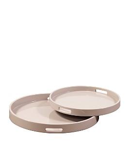 Howard Elliott - Lacquer Round Wood Tray Set