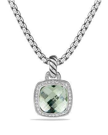 David Yurman - Albion Pendant with Prasiolite and Diamonds