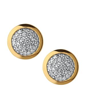 Links of London Diamond Essentials Pave Round Stud Earrings