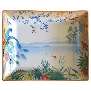 Bernardaud Tropiques Porcelain Rectangular Tray