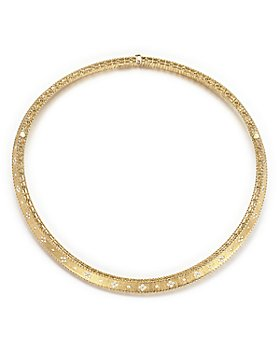 Roberto Coin - 18K Yellow Gold Diamond Link Princess Collar Necklace