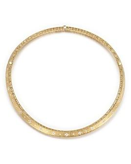 Roberto Coin - 18K Yellow Gold Diamond Link Princess Collar Necklace
