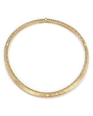 Roberto Coin 18K Yellow Gold Diamond Link Princess Collar Necklace