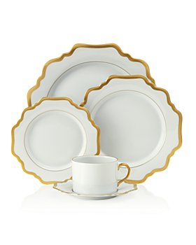 Anna Weatherley - Simply Anna Antique White with Gold Dinnerware Collection