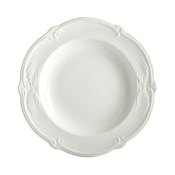 Gien France - Rocaille White Soup Bowl