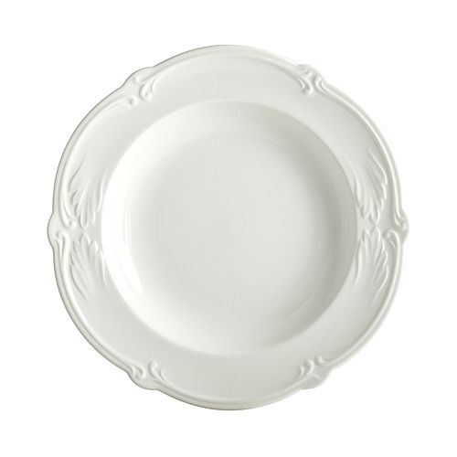 Gien France - Rocaille White Soup Bowl