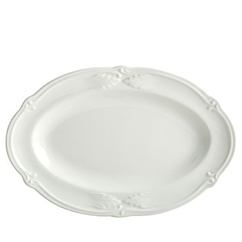Gien France - Rocaille White Pickle Dish