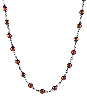 David Yurman Accessories SPIRITUAL BEADS ROSARY NECKLACE IN RED TIGER EYE