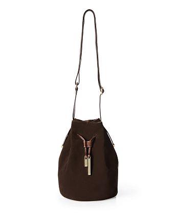 091c26476e HALSTON HERITAGE - Suede Bucket Bag