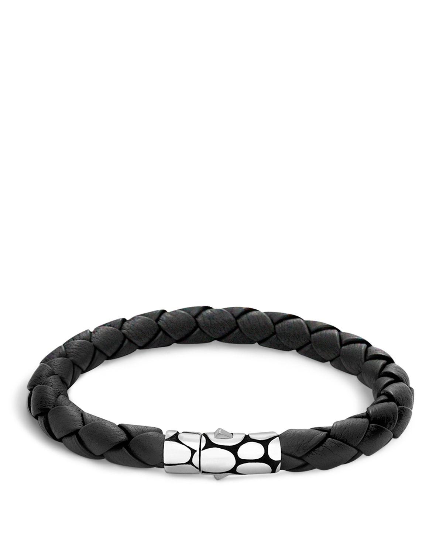 John Hardy Mens Braided Leather Bracelet