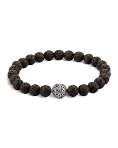 John Hardy Men's Sterling Silver Classic Chain Large Beaded Bracelet with Black Volcanic Rock - Bloomingdale's_0