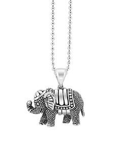 "LAGOS - LAGOS Rare Wonders Elephant Pendant Necklace, 34"""