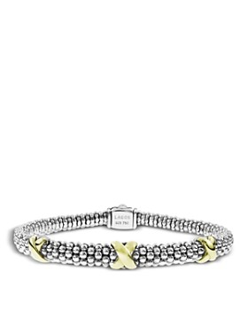 LAGOS - 18K Gold and Sterling Silver Rope Bracelet