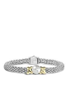 "LAGOS - LAGOS Sterling Silver ""Luna"" Cultured Freshwater Pearl Rope Bracelet"