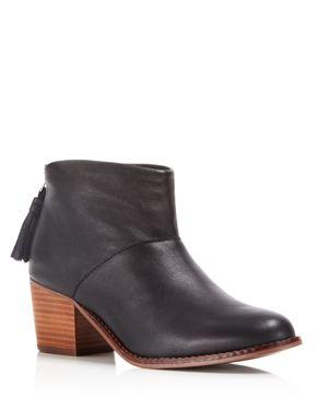 Toms Women's Leila Block Heel Booties 1537859
