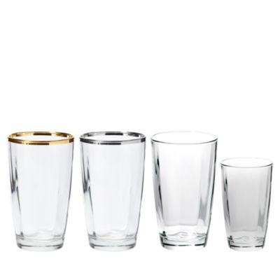 Optical Gold Champagne Glass