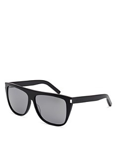 Saint Laurent - Women's Mirrored Flat Top Square Sunglasses, 59mm