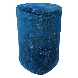 Bloomingdale's Vintage Carpet Ottoman, Royal Blue