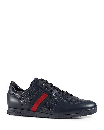 Gucci - Men's Micro ssima Lace-Up Sneaker with Web Detail