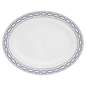 Vera Wang With Love Nouveau Indigo Oval Platter