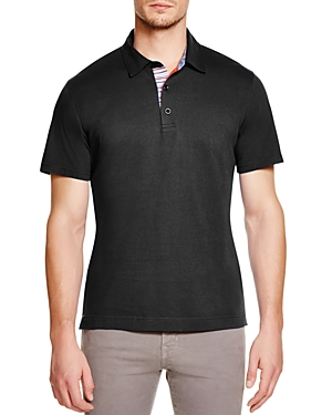 Robert Graham Stoked Stripe Placket Slim Fit Polo Shirt - 100% Exclusive