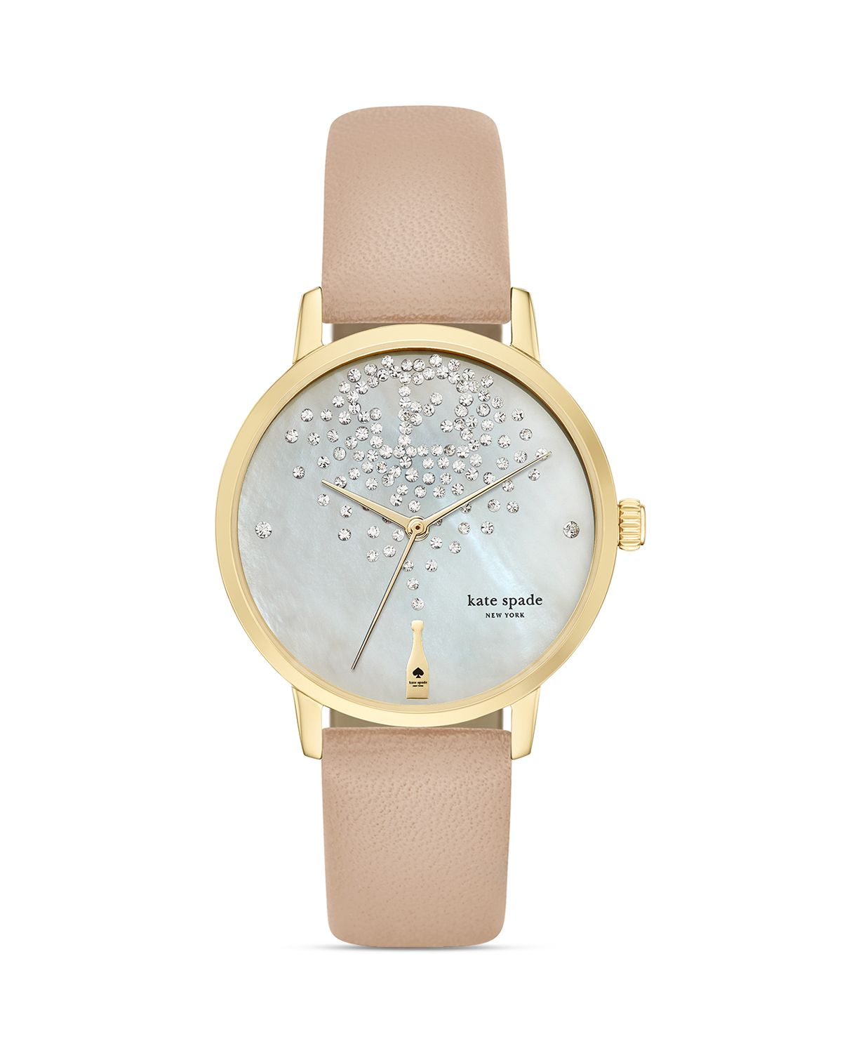 Vachetta Champagne Dial Metro Watch, 34mm by Kate Spade New York